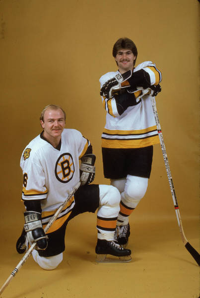 Sport Venue Photograph - Ray Bourque & Rick Middleton by B Bennett