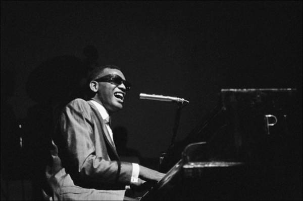 Piano Photograph - Ray Charles Behind The Scence At The by Reporters Associes