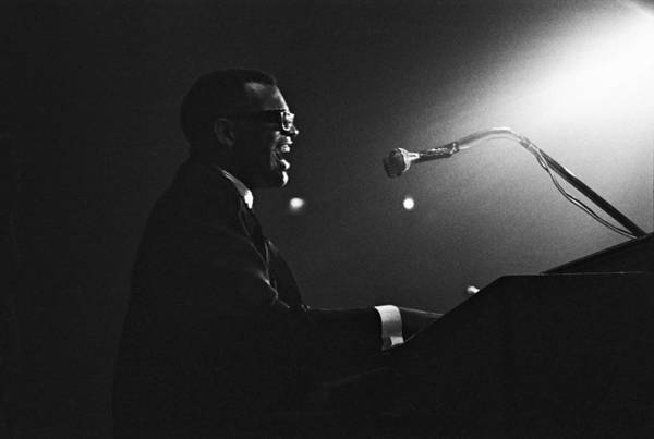 Concert Hall Photograph - Ray Charles In Paris, France In 1961 - by Herve Gloaguen