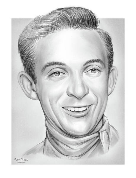 Wall Art - Drawing - Ray Price by Greg Joens