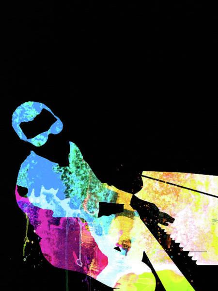 Jazz Mixed Media - Ray Watercolor II by Naxart Studio