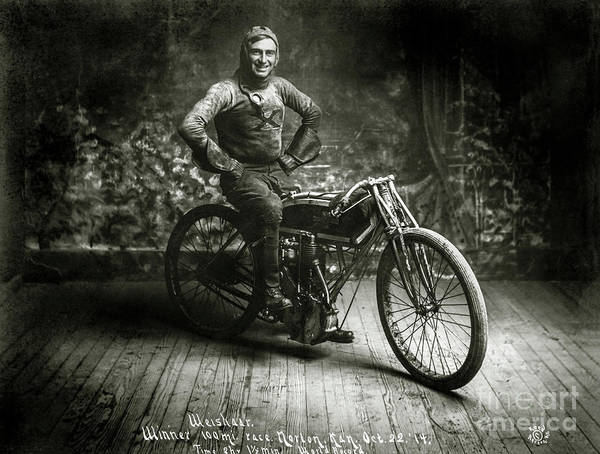 Knucklehead Wall Art - Photograph - Ray Weishaar 1914 Champion by Jon Neidert