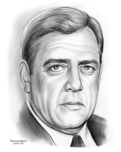 Wall Art - Drawing - Raymond Burr by Greg Joens