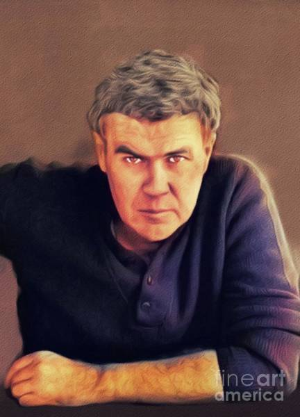 Wall Art - Painting - Raymond Carver, Literary Legend by John Springfield