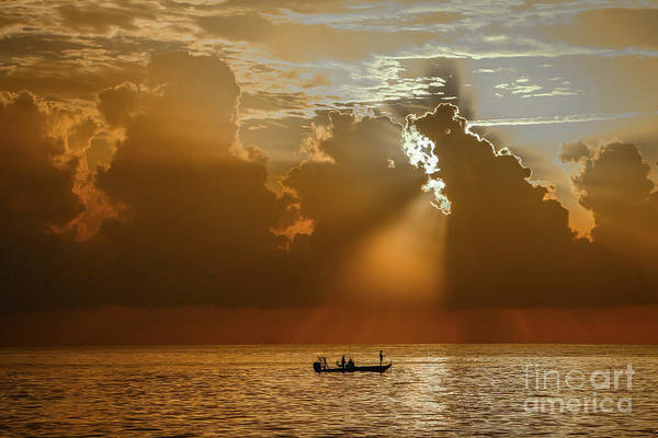 Art Print featuring the photograph Rays Light The Way by Tom Claud
