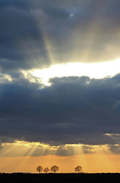 Collin Photograph - Rays Of Light Through Clouds by © Frédéric Collin