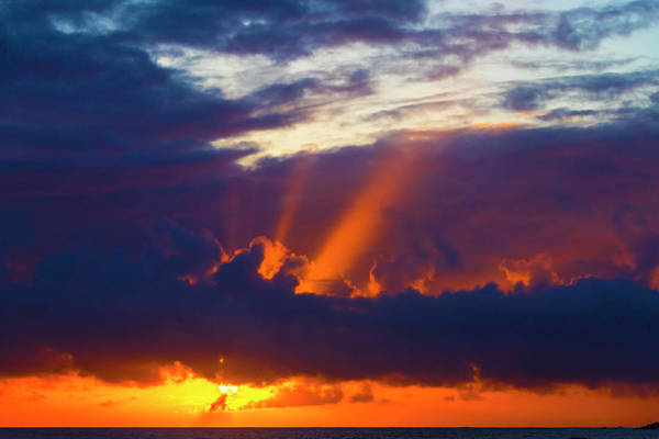 Wall Art - Photograph - Rays Of Sunlight At Sunset by Garry Gay
