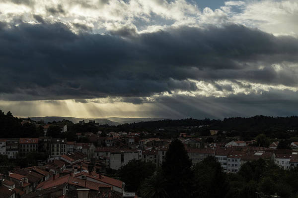 Photograph - Rays Over Santiago by Alex Lapidus
