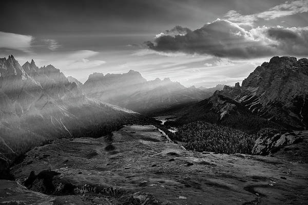 Photograph - Rays Over The Dolomites II by Jon Glaser