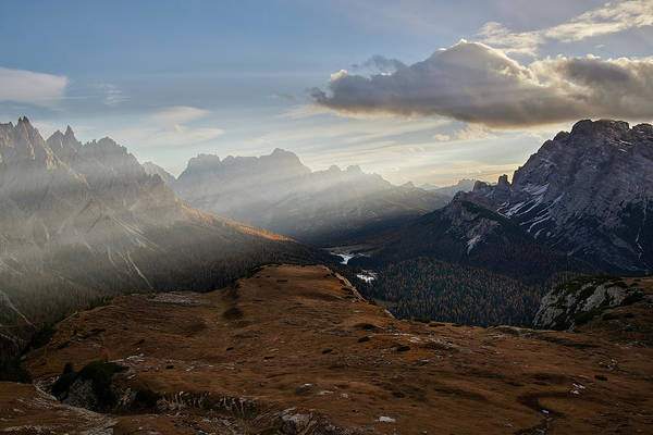 Photograph - Rays Over The Dolomites by Jon Glaser