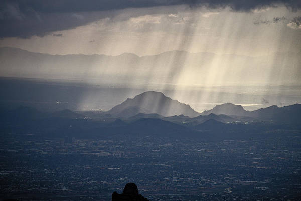 Photograph - Rays Over Tucson by Chance Kafka