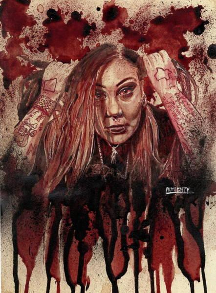Serial Killer Painting - Razakel Port Dry  Blood by Ryan Almighty