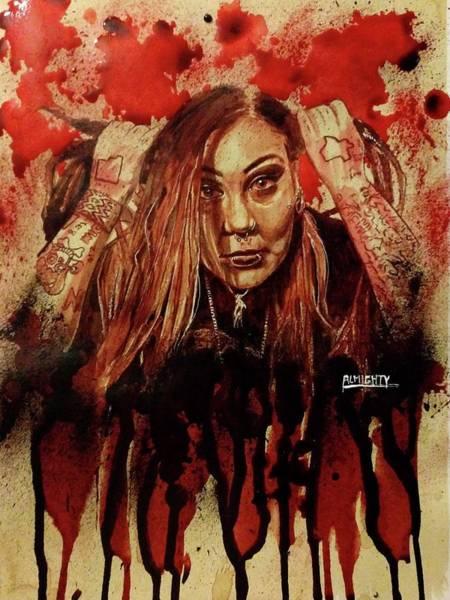 Serial Killer Painting - Razakel Port Fresh Blood by Ryan Almighty