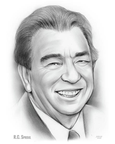 Authors Drawing - Rc Sproul by Greg Joens