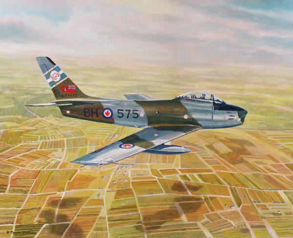 Painting - Rcaf Sabre by Douglas Castleman