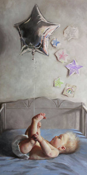 Infant Painting - Reach by Anna Rose Bain