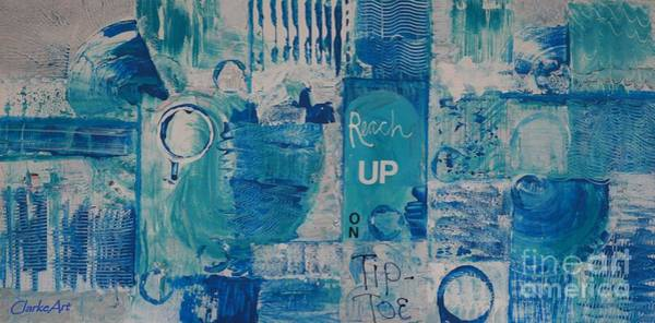 Mixed Media - Empowerment In Blue by Jean Clarke