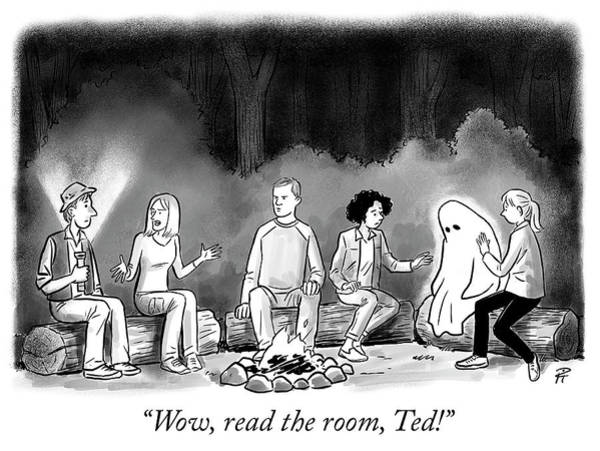 Ghosts Drawing - Read The Room by Pia Guerra