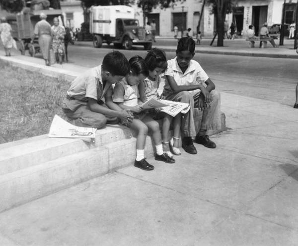 Greater Antilles Photograph - Reading Corner by Three Lions