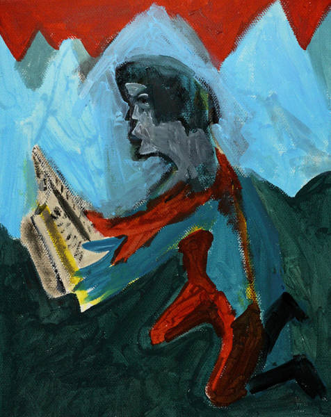 Painting - Reading by Artist Dot