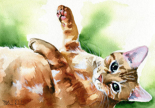 Painting - Ready For A Belly Rub by Dora Hathazi Mendes