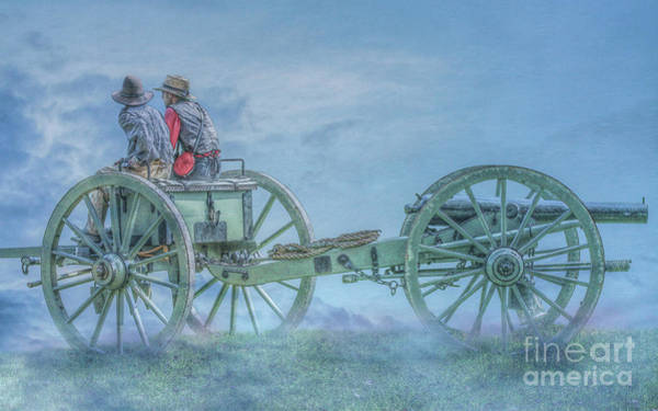 Mural Digital Art - Ready For Action Civil War Cannon by Randy Steele