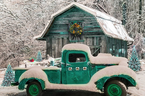 Photograph - Ready For Christmas In Turquoise by Debra and Dave Vanderlaan