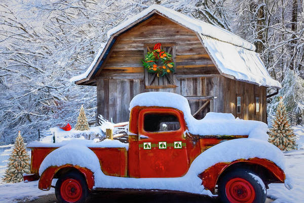 Photograph - Ready For Christmas Painting by Debra and Dave Vanderlaan