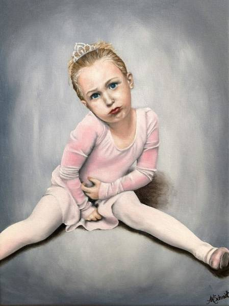 Painting - Ready For Dance Class IIi - Painting by Ashley Koebrick Schmidt