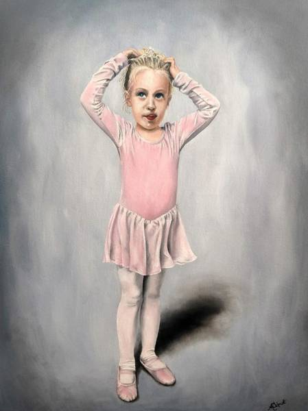 Painting - Ready For Dance Class - Painting by Ashley Koebrick Schmidt