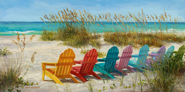 Sea Oats Painting - Ready For The Show by Laurie Snow Hein