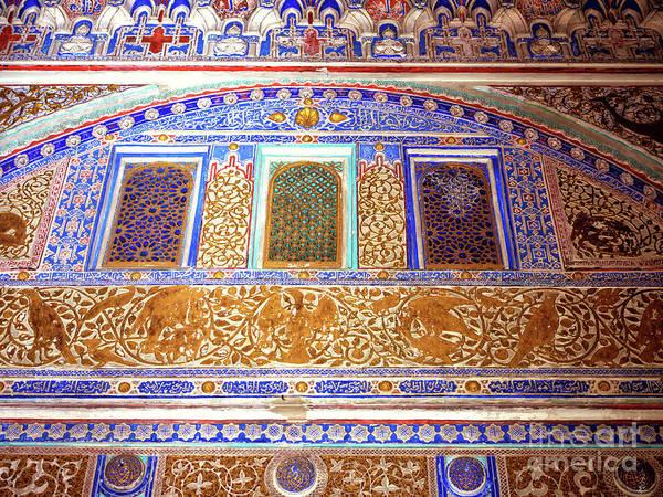 Photograph - Real Alcazar Interior Design In Seville by John Rizzuto