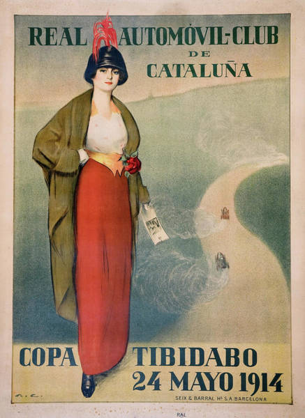 Wall Art - Painting - Real Automovil-club De Cataluna, Copa Tibidabo - Digital Remastered Edition by Ramon Casas