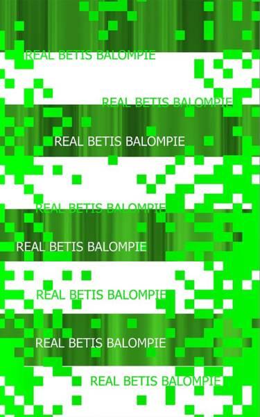 Digital Art - Real Betis Baloompie Pixels by Alberto RuiZ