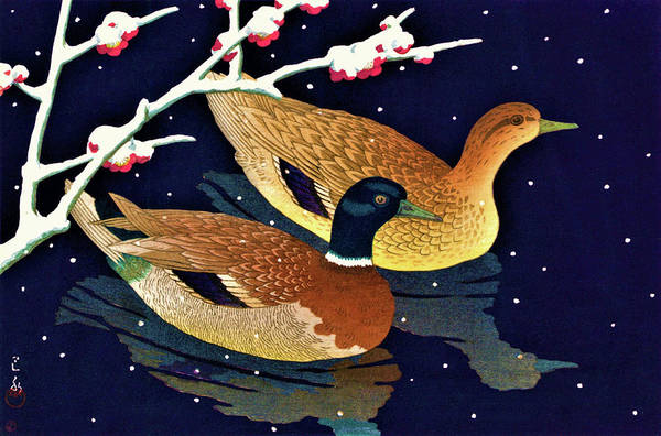 Wall Art - Painting - Real Duck - Digital Remastered Edition by Kawase Hasui