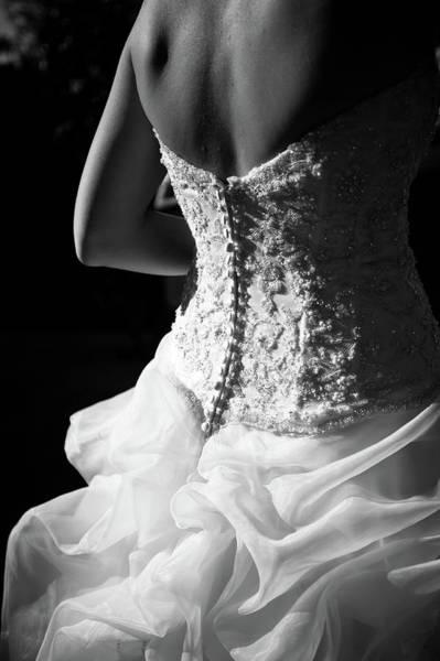 Beginnings Photograph - Rear View Of Bride by John B. Mueller Photography