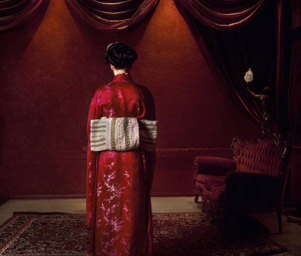 Traditional Clothing Photograph - Rear View Of Woman In Traditional by Samantha Everton