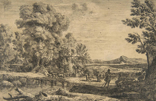 Relief - Rebecca And Eliezer by Claude Lorrain