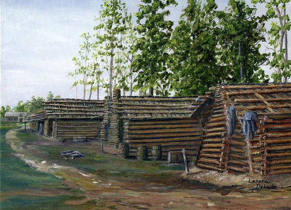 Painting - Rebel Huts, Port Hudson, Louisiana 1863 by Lenora De Lude