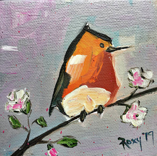 Animal Painting - Rebel Robin by Roxy Rich