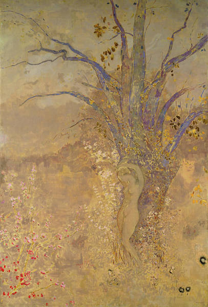 Wall Art - Painting - Rebirth, Spring, 1908 by Odilon Redon