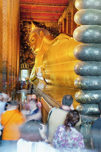 Reclining Photograph - Reclining Golden Buddha In Wat Pho by Gavin Hellier / Robertharding