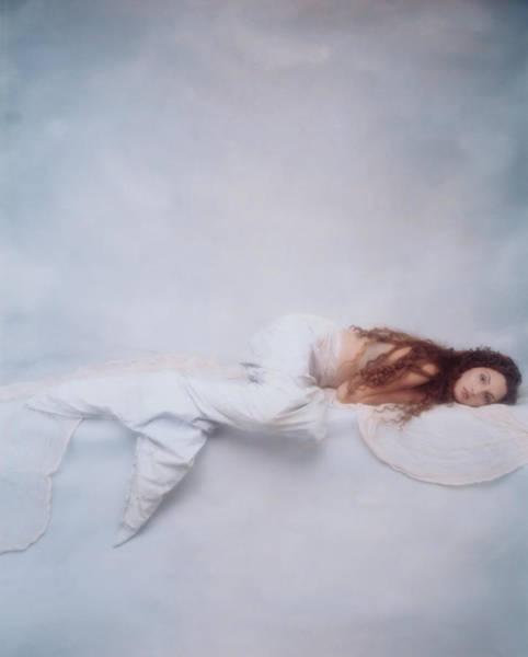 Reclining Photograph - Reclining Mermaid by Joyce Tenneson