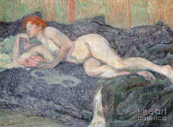Wall Art - Painting - Reclining Nude, 1897 by Henri de Toulouse-Lautrec