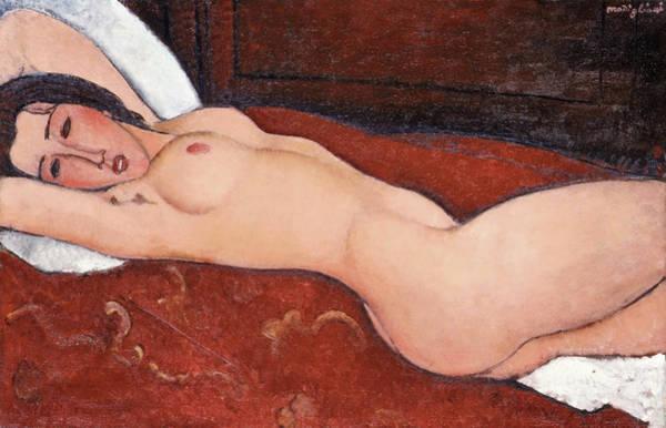 Modigliani Painting - Reclining Nude - Digital Remastered Edition by Amedeo Modigliani