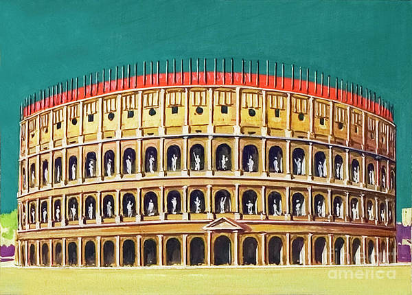 Wall Art - Painting - Reconstruction Of The Colosseum  by Severino Baraldi