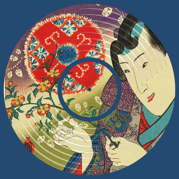 Painting - Record Album Vinyl Lp Asian Japanese Man Woman by Tony Rubino