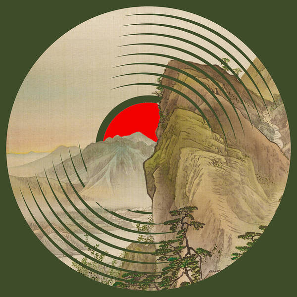 Painting - Record Album Vinyl Lp Asian Japanese Mountain by Tony Rubino