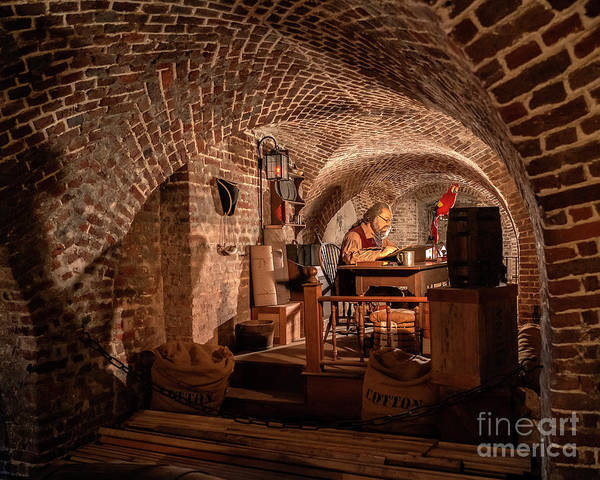 Bookkeeper Photograph - Record Keeping In The Dungeon by Rodney Cammauf