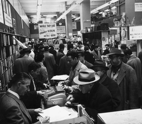 Customer Photograph - Record Sale by Hulton Archive